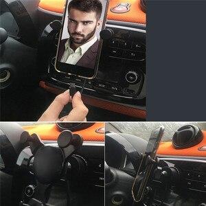 Image 4 - Auto Radio Interface GPS Navigation Halterung Handy Halter für Smart Fortwo 453 15 19 Auto Zubehör