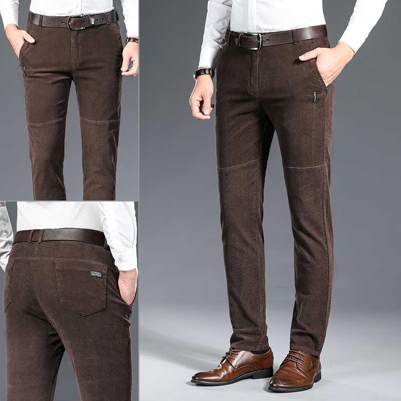 Homme Velours Pantalon Pantalon Long Doux Élastique Ample Décontracté Mode Hiver