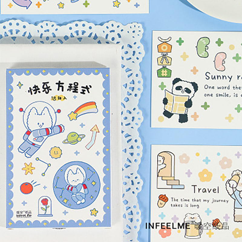 30sheets/LOT Happy Formula Hand Drawn Cartoon Animal Cute Panda Art Card Postcards/Greeting Card/wish Card