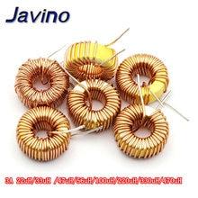купить 5pcs Toroid Inductor 3A Winding Magnetic Inductance 22uH 33uH 47uH 100uH 220uH 330uH 470uH Inductor For LM2596 дешево
