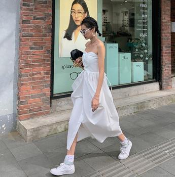 off shoulder New Summer Dress Girls Boho Party Female Vintage Sleeveless white Women Dresses long oversize Robe Vestido