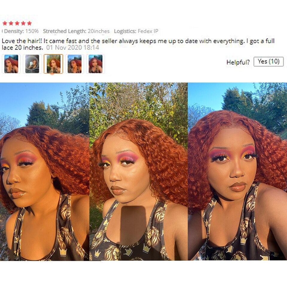 gengibre laranja peruca de cabelo humano pre 04