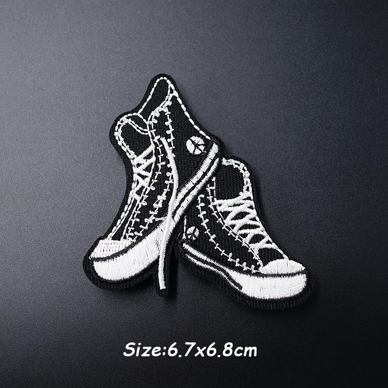 Черно-белая ткань для экспрессии Mend украшает утюжок на патч одежда шитье украшения аппликация вышивать на пачках для одежды - Цвет: I
