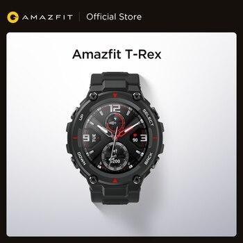 Новинка 2020 Смарт-часы CES Amazfit T rex T-rex управление музыкой 5ATM Смарт-часы GPS/GLONASS Срок службы батареи 20 дней раньше для Android