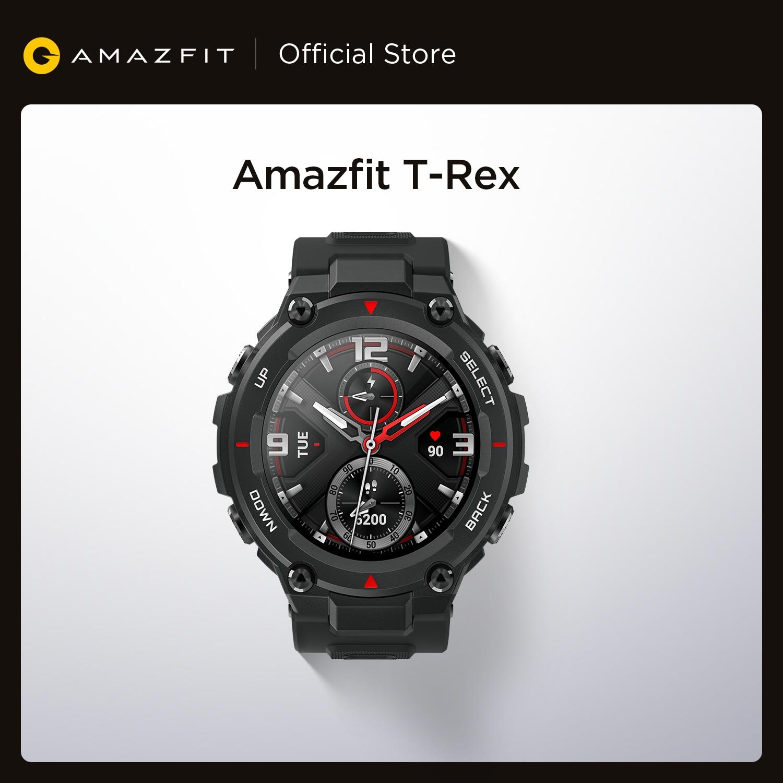 Новинка 2020 Смарт-часы CES Amazfit T rex T-rex управление музыкой 5ATM Смарт-часы GPS/GLONASS Срок службы батареи 20 дней раньше для Android-0