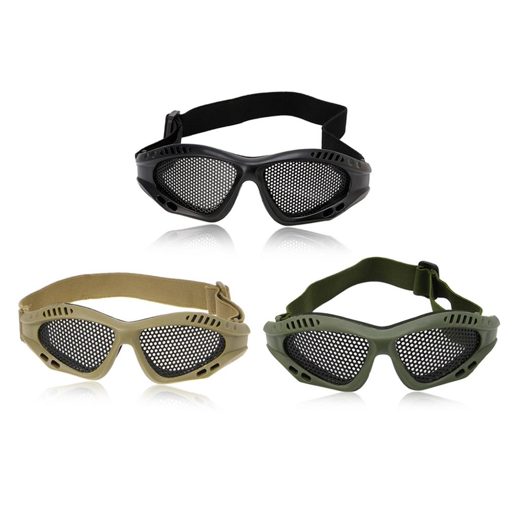 Outdoor Eye Protective Comfortable Airsoft Safety Tactical Glasses Goggles Anti Fog With Metal Mesh 3 Colors Whosale&Dropship