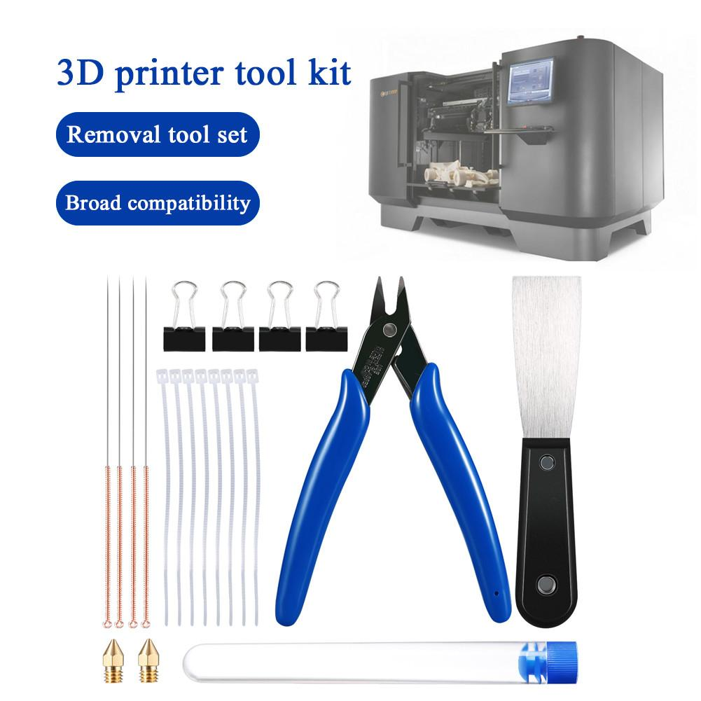 3D Printer Tool Kit 3D Printer Tool Set Cleaning Needles Pliers Scarper And Other Accessories For Printing Removing Cleaning