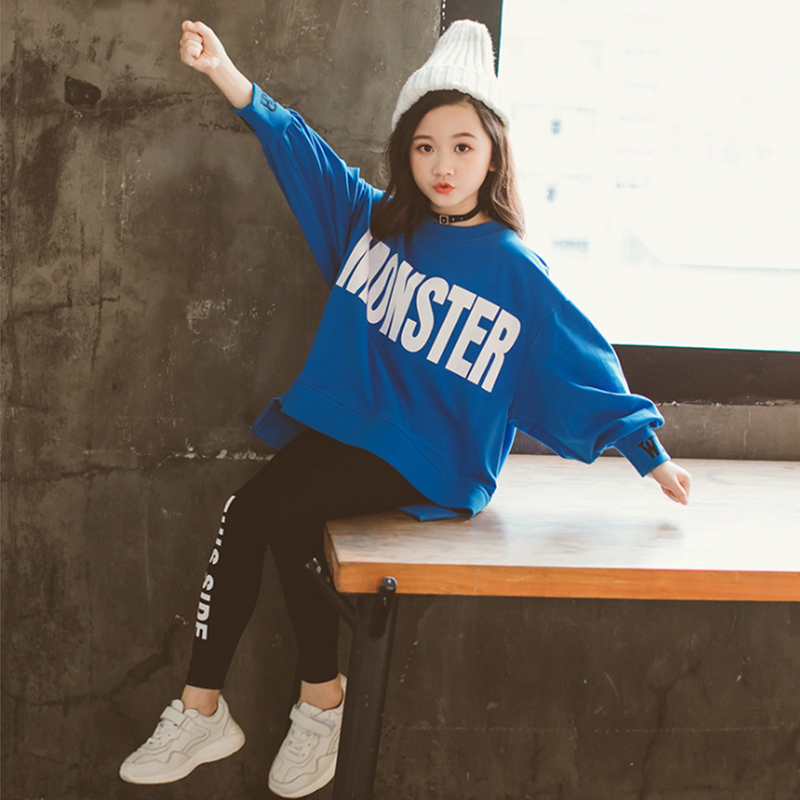 Kids Girls Clothes Sets Long Sleeve Sweater Hoodies + girl leggings  Pants Autumn 3 5 7 8 10 12 Years baby girl clothes 3