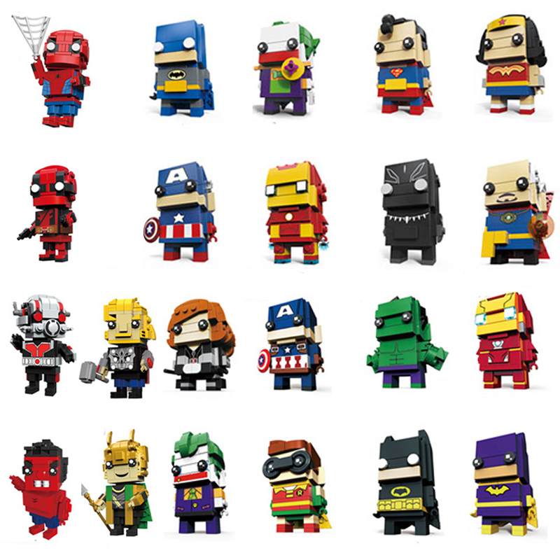 Compatible With Legoinglys Brickheadz Avengers 3 Infinity War Marvel Spuer Hero Guardians Brick Heads Headz Building Blocks Sets