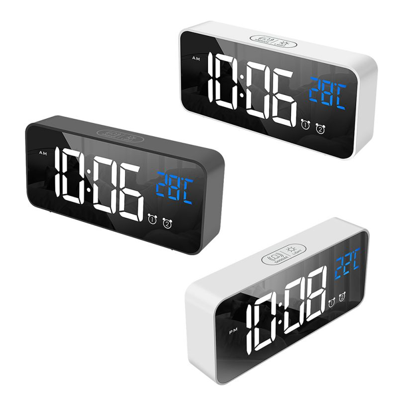 Led Digital <font><b>Clock</b></font> Voice Control USB Rechargeable Home Decor Bedroom Dormitory Bedside Snooze Nap <font><b>Alarm</b></font> Girls <font><b>Boys</b></font> Birthday Gift image