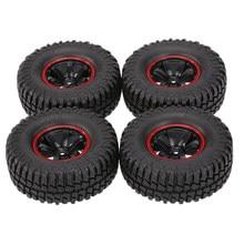 Lot de 4 1.9 pouces 1/10 échelle 103mm pneus avec jante pour 1/10 TRX4 D90 SCX10 CC01 RC Rock caterpillar