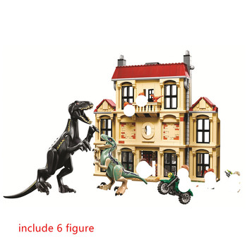 Jurassic World Indoraptor Rampage at Lockwood Estate Building Blocks Kit Bricks Classic Movie Model Kids Toys For Children Gift