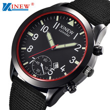 XINEW Mens Watches Relogio Masculino Men Military Quartz Army Watch