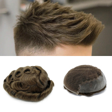 Система волос мужской парик из натуральных волос для мужчин индийский мужской парик Q6 стиль