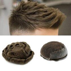 Haar system männer spitze perücke natürliche haar für männer indische männer haar toupet perücke Q6 stil