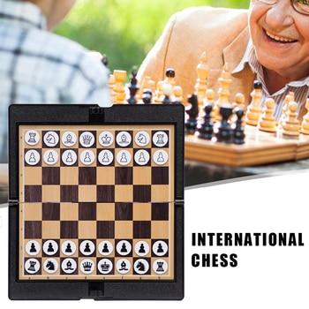 Mini jeu d'échecs de portefeuille magnétique  pour étudiant et voyageur passionné d'échec 1