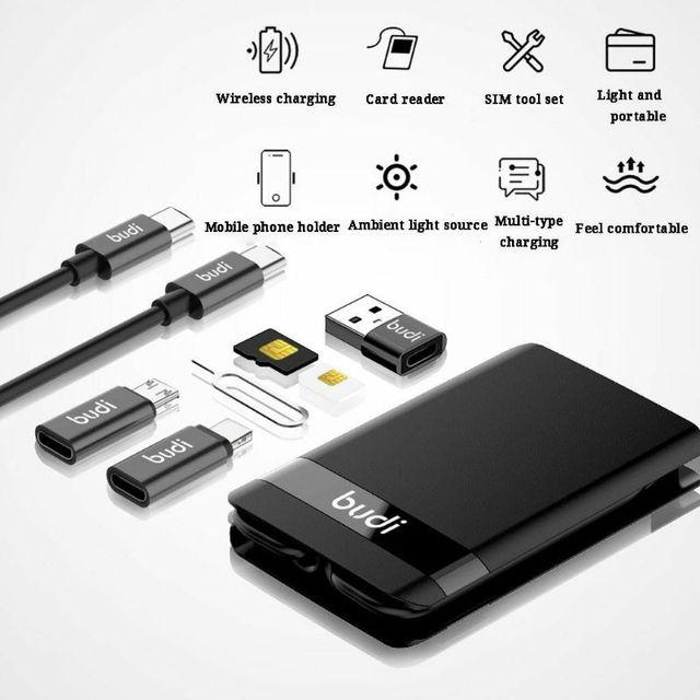 Wielofunkcyjny uniwersalny światła LED rodzaj USB C przenośny Adapter do kabla danych karty X6HA