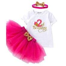 2 лет; Платье для маленьких девочек; Платье-пачка для девочек, с кружевными оборками и Платья для праздников и дней рождения 2nd платье на день ...