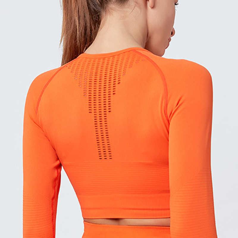 قمصان يوغا نسائية مجوفة قميص رياضي قطني تي شيرت يوغا تي شيرت للجري مثير زر الإبهام ملابس رياضية لياقة بدنية