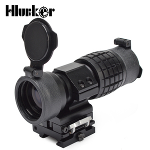 Image 4 - Military Airsoft Tactical 3x magnifier Riflescope 3X30mm Magnifying Scope Focus Adjusted With Flip Up Mount For Hunting CS Game