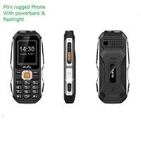 Разблокировка небольшой открытый прочный мобильный телефон для старшего русского ключа Facebook фонарик IMEI Changable Mini Power Bank ceera P011