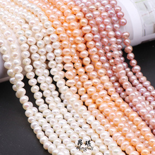 Real Natural Pearls Beads Freshwater Pearl Beads Baroque Loose Perles For DIY Craft Bracelet Necklace Jewelry Making 14 strand 7 8mm natural freshwater pearls beads half drilled hole loose beads for diy jewelry making earrings craft accessories 10pcs