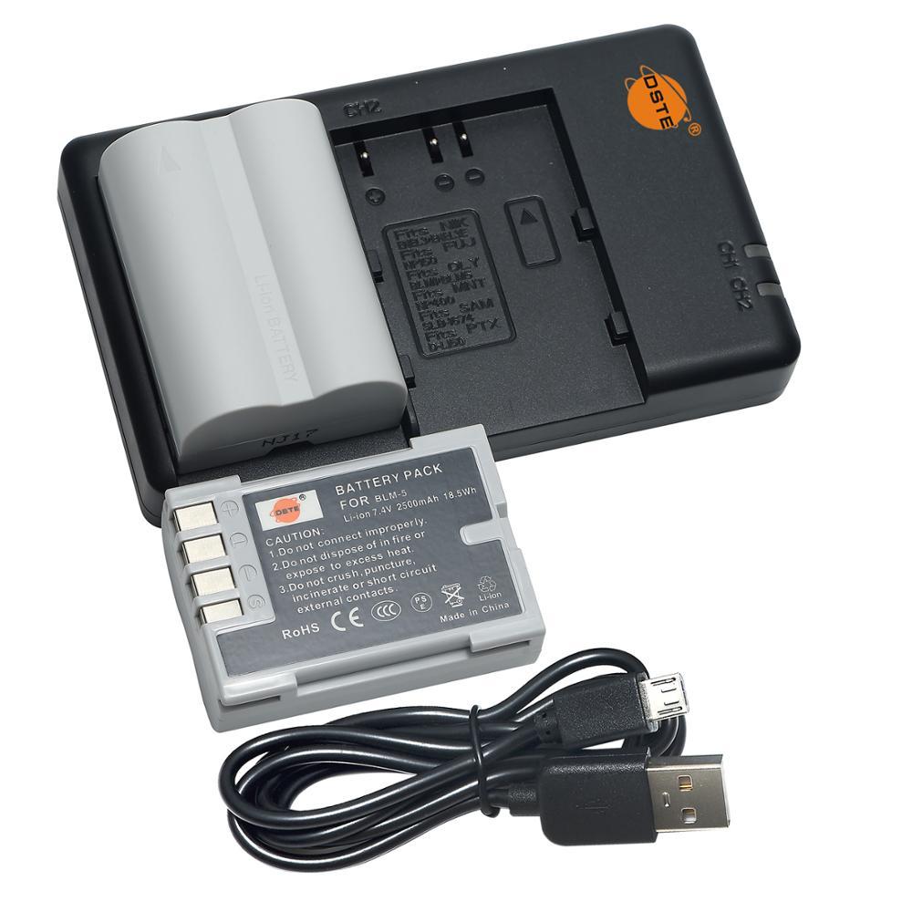 Зарядное устройство DSTE с двумя слотами, с 2 шт. планшетов, для фотовспышки Olympus, PS-BLM5 E1, E500, E330, E3, E520, E510, E300, пришло