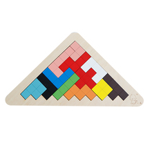 цена на 3D Wooden Puzzles Jigsaw Board Toys Tangram Brain Teaser Tetris Game Educational Baby Toys Free Shipping puzzle toys