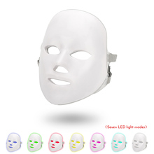 7 Colors Led Facial Mask Korean Photon Therapy Face Machine Light Acne Neck Beauty Spa