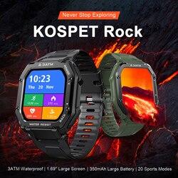 KOSPET ROCK wodoodporny inteligentny zegarek mężczyźni kobiety tętno Monitor ciśnienia krwi pogoda Sport Tracker Fitness Smartwatch 2021