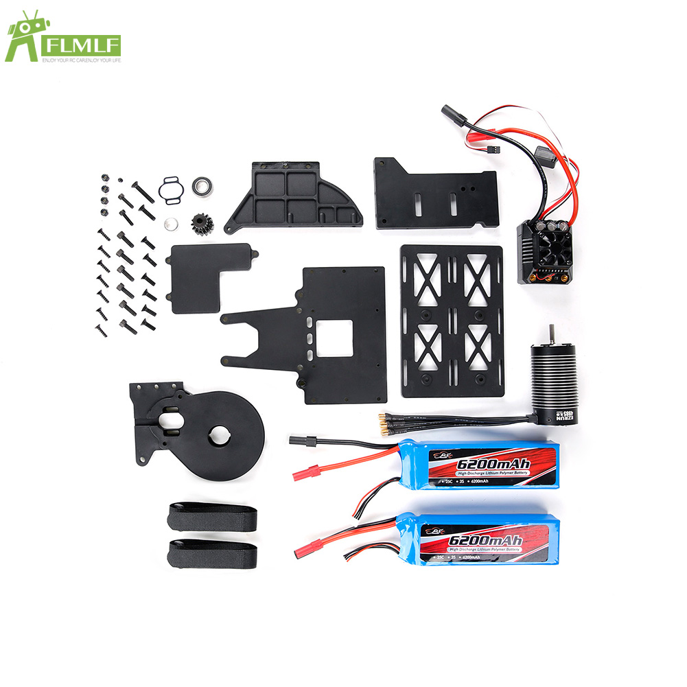 Oil To Electricity Kit with Motor ESC Battery (Full Version) Fit for 1/5 HPI ROFUN ROVAN KM Q-BAJA RC CAR TOYS PARTS