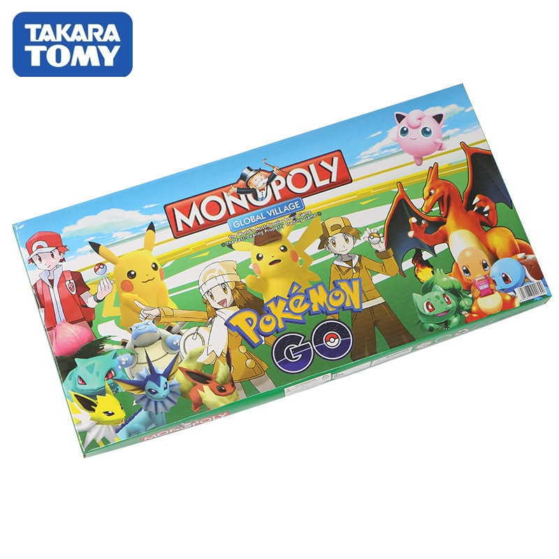 Takara Tomy Pokemon Toys Monopoly Game Adult Children Party Board Card Games Kids Toy Pokemon Monopoly
