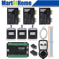 3 Axis CNC Stepper Driver Kit Mach3 Ethernet 300 KHz with MPG Controller for DIY CNC Router