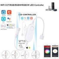 Tuya Smart Leben Dimmer DC12 DC24V DC5V USB Wifi 5050 RGB/RGBW/RGBCCT Led Licht Streifen Einzigen Farbe controller für Alexa Google