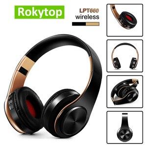 Image 1 - Bluetooth kulaklıklar aşırı kulak kablosuz kulaklıklar katlanabilir stereo kulaklık mikrofonlu kulaklık desteği TF kart FM PC müzik MP3