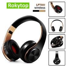 Bluetoothヘッドセットの耳ワイヤレスヘッドフォン折りたたみステレオイヤホンヘッドセットマイクのサポートtfカードfm pc音楽MP3
