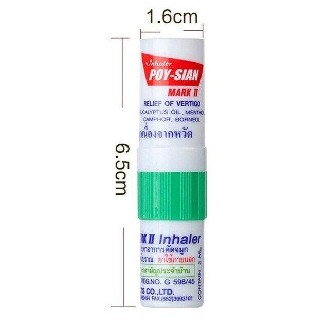 100% New Thailand Nasal Inhaler Poy sian Mark 2 Herbal Nasal Inhaler Poy Sian Stick Mint Cylinder Oil Brancing Breezy Asthma 3