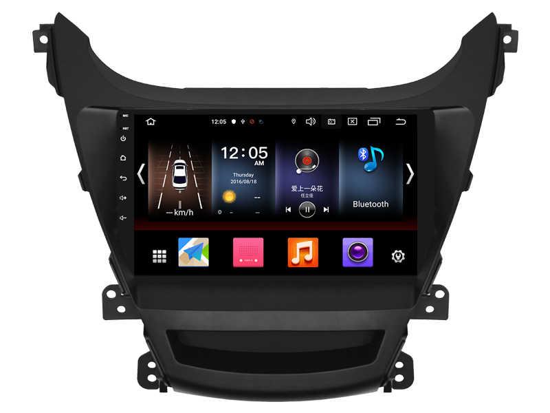 OTOJETA Android 9.0 2.5D ekran radio samochodowe dla Hyundai Elantra 2015 AUX USB multimedialne stereo nawigacja GPS magnetofon