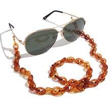 Flatfoosie модная акриловая цепочка для солнцезащитных очков женские цепочки для очков цепочка для очков для чтения очки шнур держатель шейный ремешок