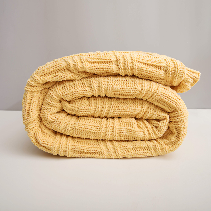 Скандинавское модное женское кашемировое Двухслойное одеяло для офиса, вязаное зимнее теплое одеяло для кровати, дивана - 6