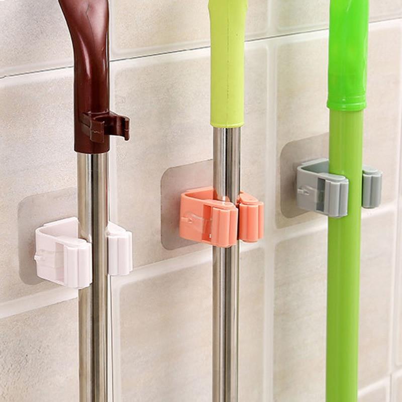 Mop Rack supporto per scopa a parete supporto per scopa appendiabiti scaffale organizzatore gancio organizzatore da cucina per uso domestico accessori per il bagno 1