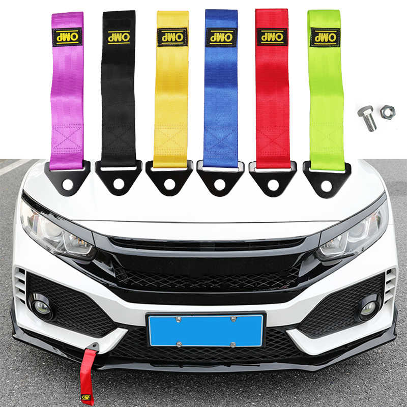 Trailer Rope Tow Professional Shackle,Universal Emergency Vehicle Trailer Rope for Front Rear Bumper Towing Hook EMVANV Racing Car Tow Strap