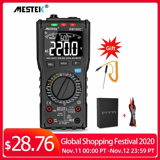 Analog Smart Multimeter Digital True RMS NCV Automatic multimeter Resistance Voltage Temperature Multimetro Non contact meter