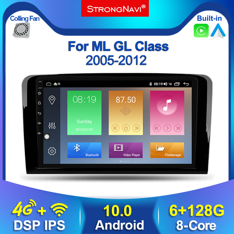 IPS 6+128G Android DSP Car Multimeida GPS radio Player For Mercedes Benz CLASS ML W164 X164 ML350 ML300 GL500 ML320 ML280 GL350