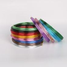 3-10 medidor de cor da mistura redonda cabo de fio de alumínio macio para pulseira colar que faz o fio de miçangas de metal diy acessórios de jóias