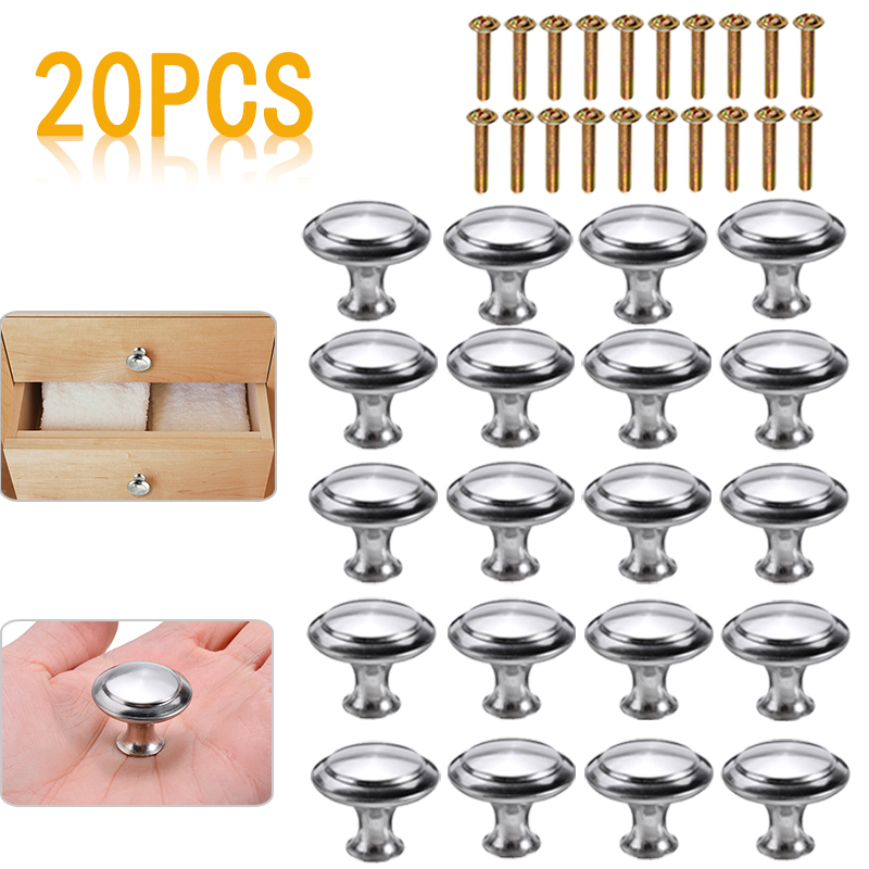20Pcs/lot Mushroom Cabinet Knob Set Replaceable Furniture Cabinet Drawer Cupboard Handles Pulls  Kitchen Door Knob DIY Hardware