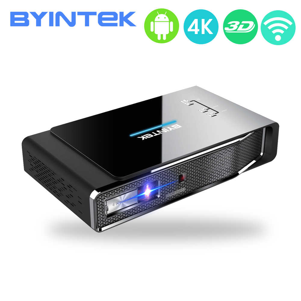 Byintek R15 300 Inch Smart Android Proyektor Nirkabel Sync LED Portable Mini DLP 3D 4K Proyektor, untuk Full HD 1080P Home Theater