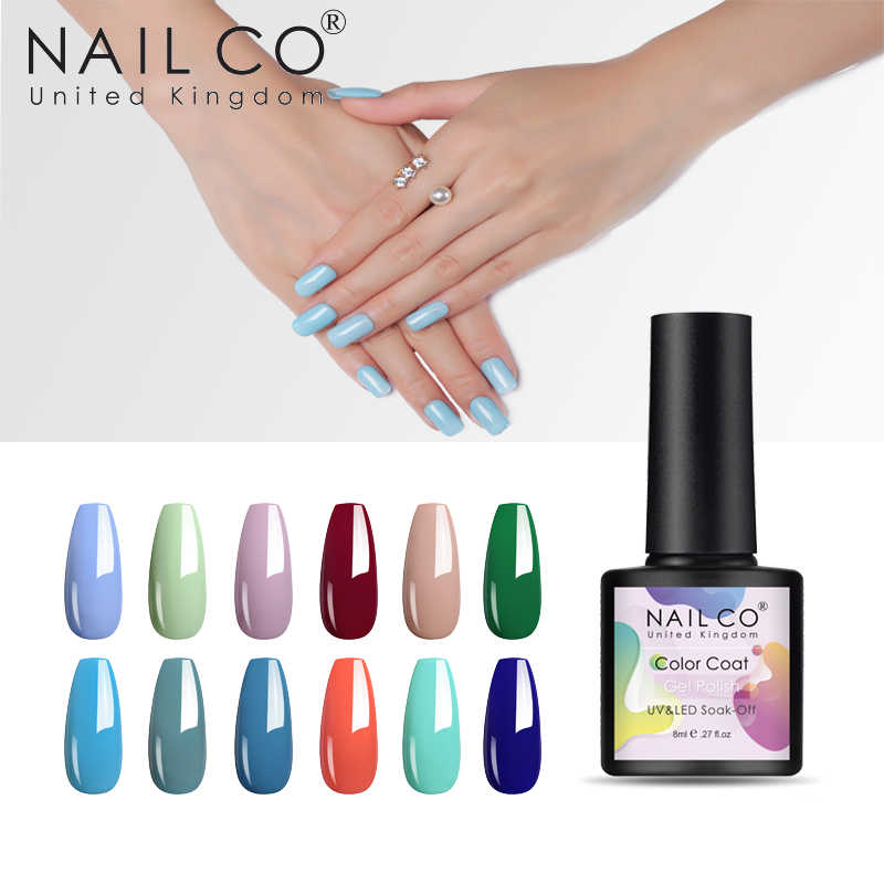 NAILCO Nuova Primavera Elenco 81 Colori Soak Off Gel Del Chiodo 8ml UV Led Semi permanente di Arte Vernice Lacca hybrid Gel Polish