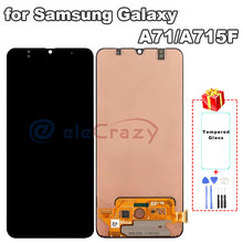 Original AMOLED for Samsung Galaxy A71 5G LCD with Touch Digitizer Complete Assembly A715 A715F A715FD/S Display 100% Tested