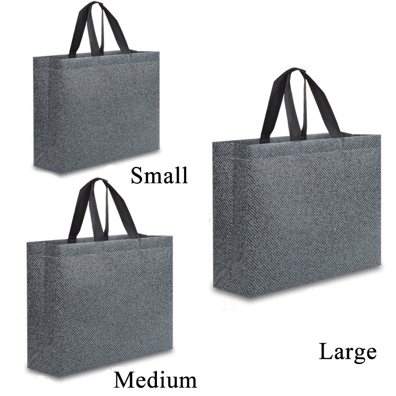 Unisex Foldable Shopping Bag Reusable Eco Large Unisex Fabric Non-woven Shoulder Bags Tote Grocery Cloth Bags Pouch Wholesale